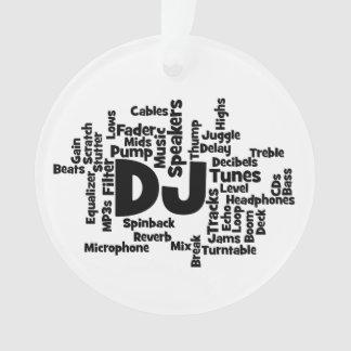 DJ Word Cloud Ornament
