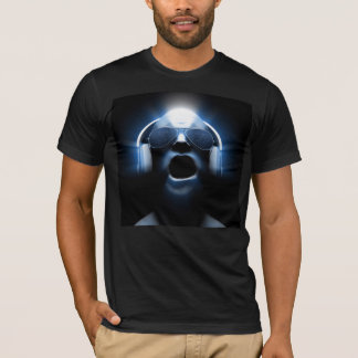 DJ Yelling with Headphones and Sunglasses T-Shirt