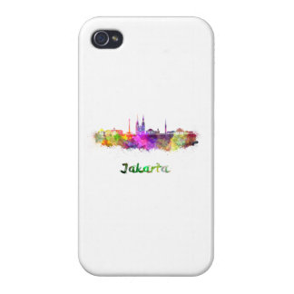 Djakarta skyline in watercolor iPhone 4/4S covers