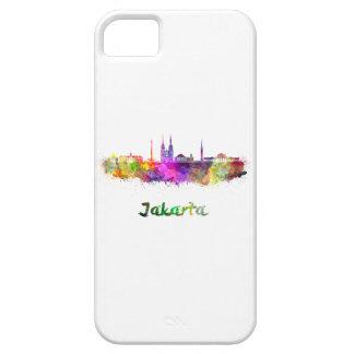 Djakarta skyline in watercolor iPhone 5 cover