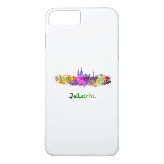 Djakarta skyline in watercolor iPhone 7 plus case