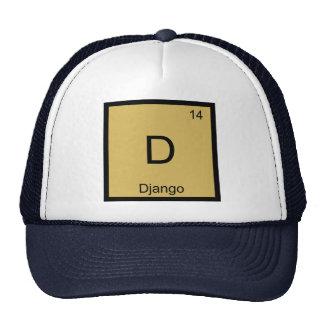 Django Name Chemistry Element Periodic Table Trucker Hat