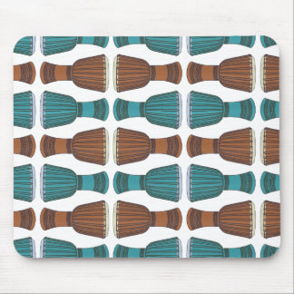 Djembe Drum Pattern Mouse Pad