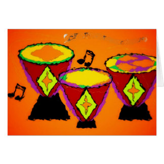 Djembe Drums Card
