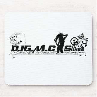 DJGMC Swiss - BW logo Mouse Pad