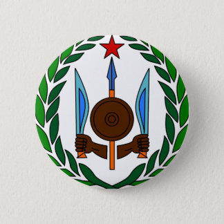Djibouti coat of arms 2 inch round button