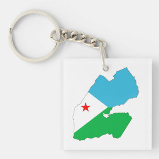 djibouti country flag map shape silhouette symbol keychain