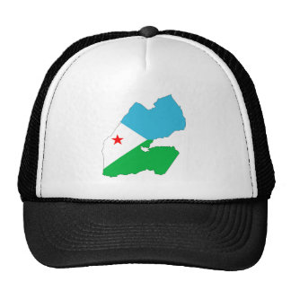 djibouti country flag map shape silhouette symbol trucker hat