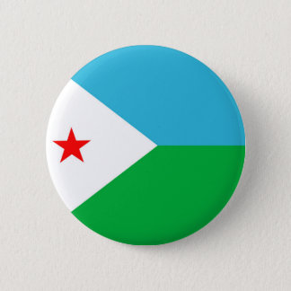 djibouti country flag nation symbol 2 inch round button