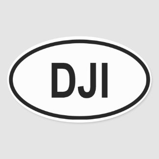 "Djibouti ""DJI"" Oval Sticker"