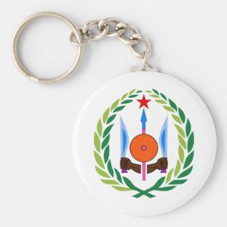 djibouti emblem basic round button keychain