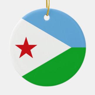 Djibouti Flag Ceramic Ornament