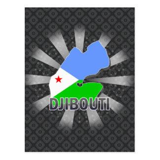 Djibouti Flag Map 2.0 Postcard