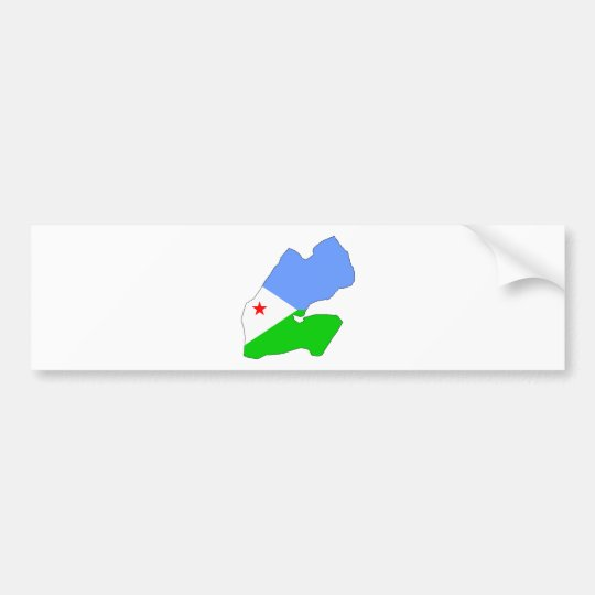 Djibouti Flag Map full size Bumper Sticker