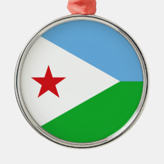 Djibouti Flag Metal Ornament