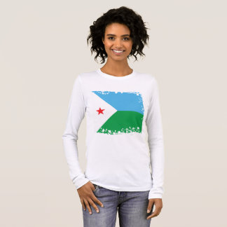 Djibouti Flag, Republic of Djibouti Colors Long Sleeve T-Shirt