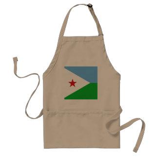 Djibouti Flag Standard Apron