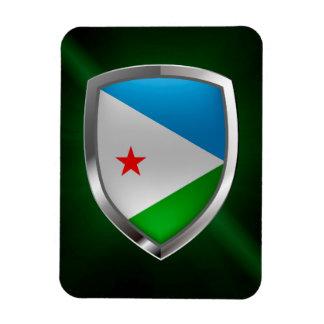 Djibouti Mettalic Emblem Magnet