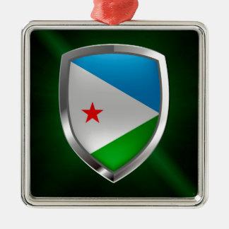 Djibouti Mettalic Emblem Metal Ornament