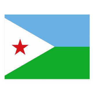 Djibouti National World Flag Postcard
