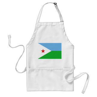 Djibouti National World Flag Standard Apron