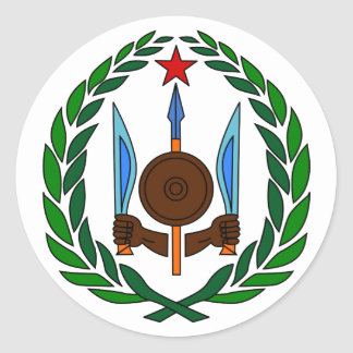 Djibouti Official Coat Of Arms Heraldry Symbol Classic Round Sticker
