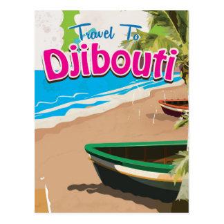 Djibouti vintage travel poster postcard