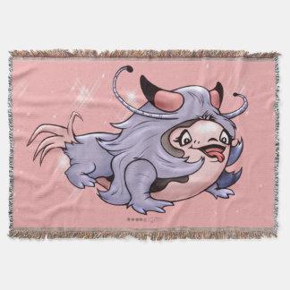 DJUMAN ALIEN CARTOON Throw Blanket