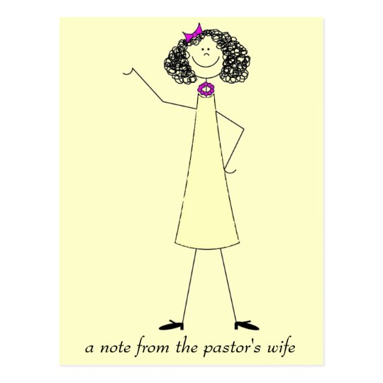 dkpwcolor, a note from the pastor's wife postcard