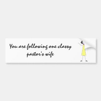 dkpwcolor, You are following one classy pastor'... Bumper Sticker