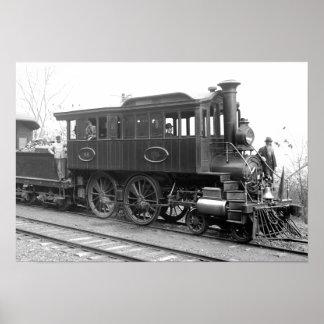 DL+ W Steam Inspection Locomotive Poster