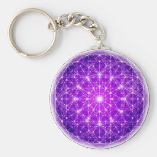 D'Light Full Mandala Basic Round Button Keychain