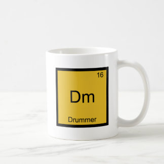 Dm - Drummer Funny Chemistry Element Symbol Tee Classic White Coffee Mug