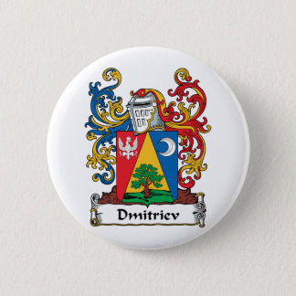 Dmitriev Family Crest 2 Inch Round Button