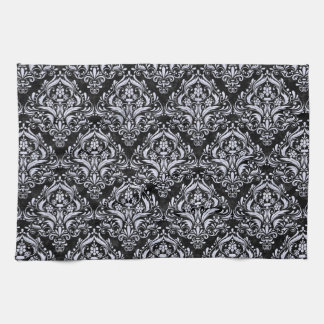 DMS1 BK-WH MARBLE HAND TOWEL
