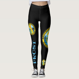 DMV Prost Black Leggings with Color Logo