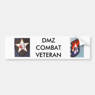 DMZ COMBAT VETERAN BUMPER STICKER