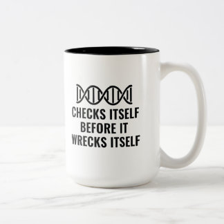 DNA Checks Itself Two-Tone Coffee Mug