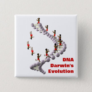 DNA Darwin's Evolution 2 Inch Square Button