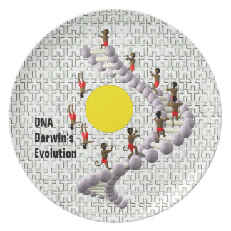 DNA Darwin's Evolution Party Plate