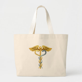 DNA Double Helix Caduceus Concept Large Tote Bag