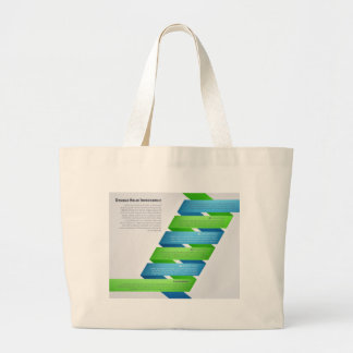 DNA Double Helix Infographic Large Tote Bag