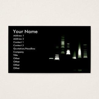 DNA Gel Electrophoresis Business Card (light back)