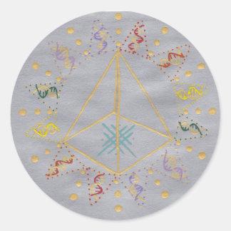 DNA Healing/Activation Classic Round Sticker