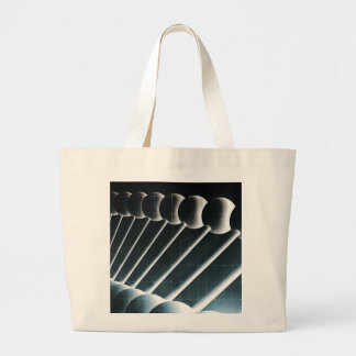 DNA Helix Abstract Background as a Science Concept Large Tote Bag