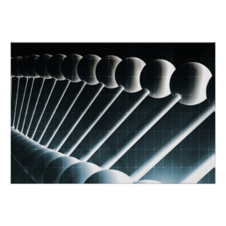 DNA Helix Abstract Background as a Science Concept Poster