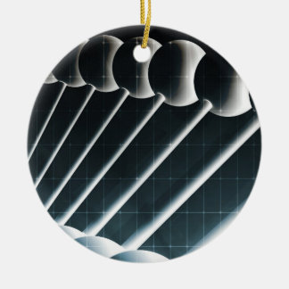 DNA Helix Abstract Background as a Science Concept Round Ceramic Ornament