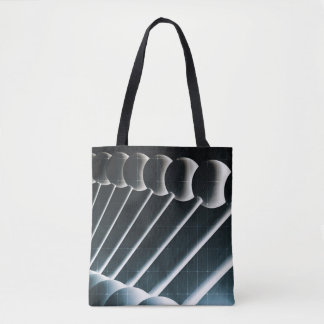 DNA Helix Abstract Background as a Science Concept Tote Bag