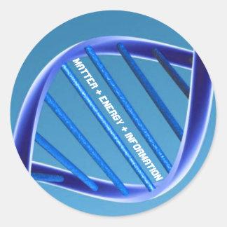 DNA Matter Energy Information Round Sticker