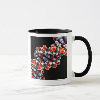 DNA molecule. Molecular model of DNA Mug